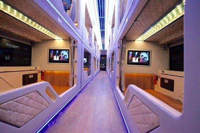 Thuê xe giường nằm limousine Rạng Đông. Nguồn: Internet